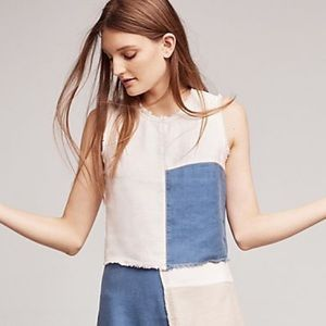 Anthropologie frida cropped patchwork tank
